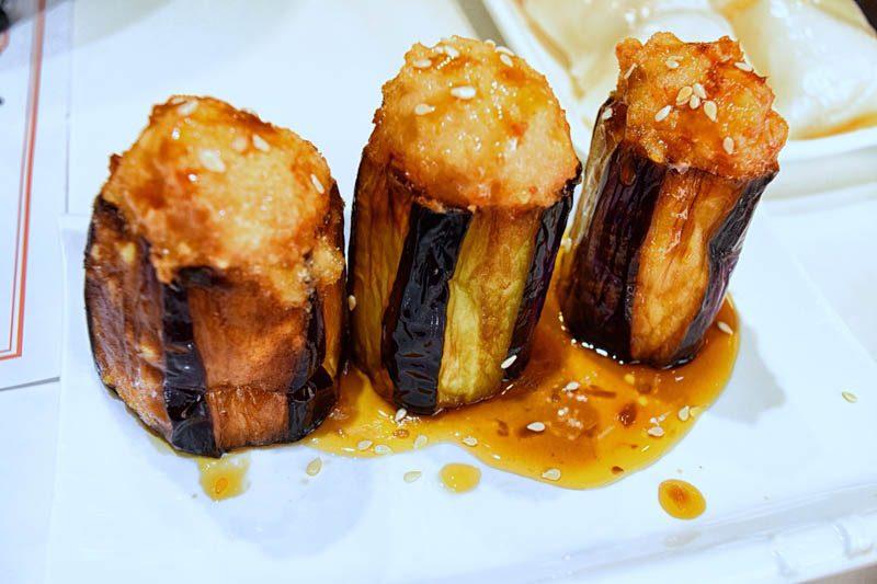 hong kong street food - Dim Dim Sum Eggplant
