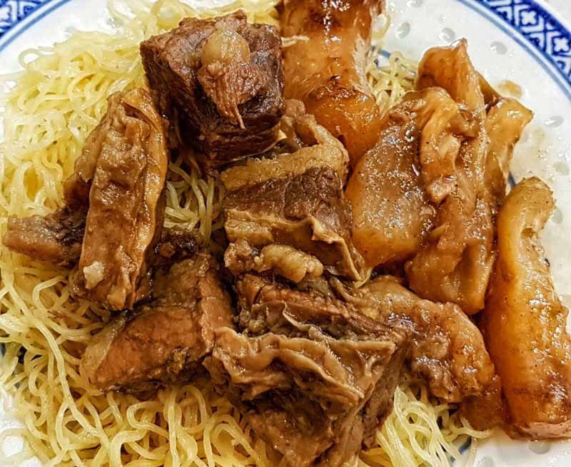 hong kong street food - Mak's Noodles Beef Brisket and Tendon_