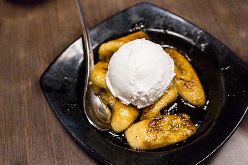 New Ubin Seafood Desert - Caramelized Bananas with Ice-Cream _