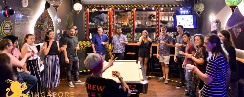 Singapore Underground Bar Crawl Beer Pong ONLINE_