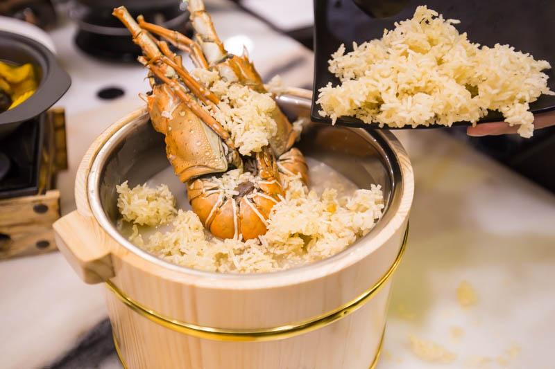 Wok Master westgate lobster broth crispy rice