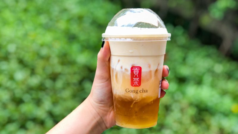 Gong Cha Salted Egg Drink 4 grab bubble tea subscription