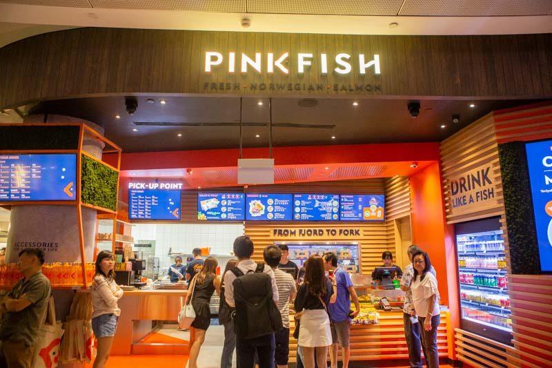 Pink Fish Jewel Changi Airport 1