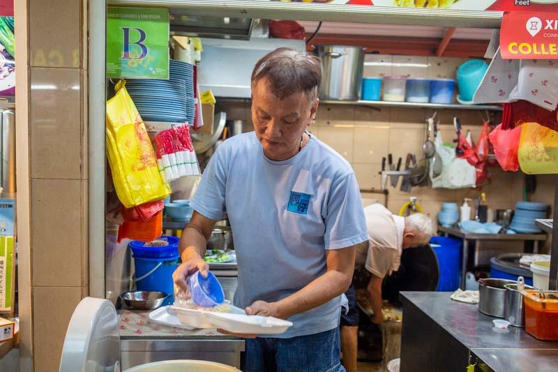 Maxwell Food Centre Ah Tai Tian Tian Hainanese Chicken Rice Chinatown 2