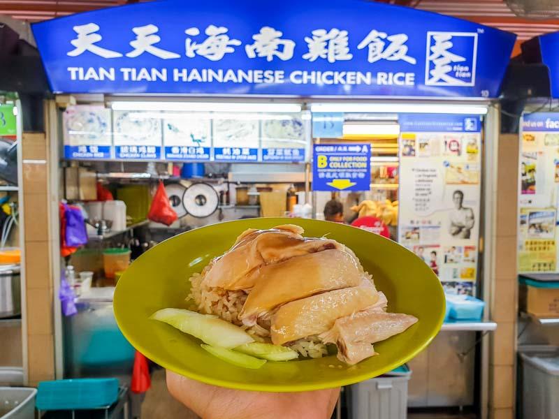Maxwell Food Centre Ah Tai Tian Tian Hainanese Chicken Rice Chinatown 46