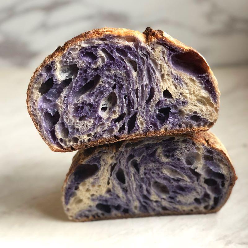 Sistersfield Marbled Blue Pea Sourdough