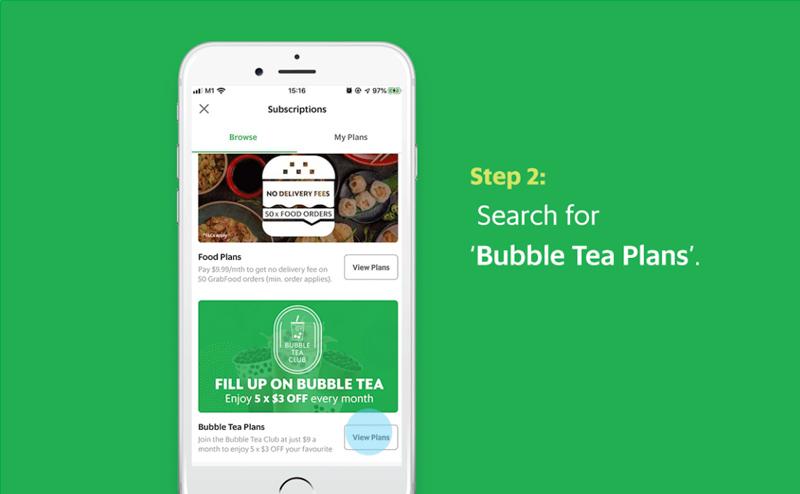 Grabpay Unique Bubble Tea Hacks Club Subscription Plan Online 3