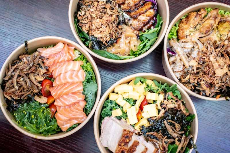 Far East Square Food Guide Three Jap Bowls 6
