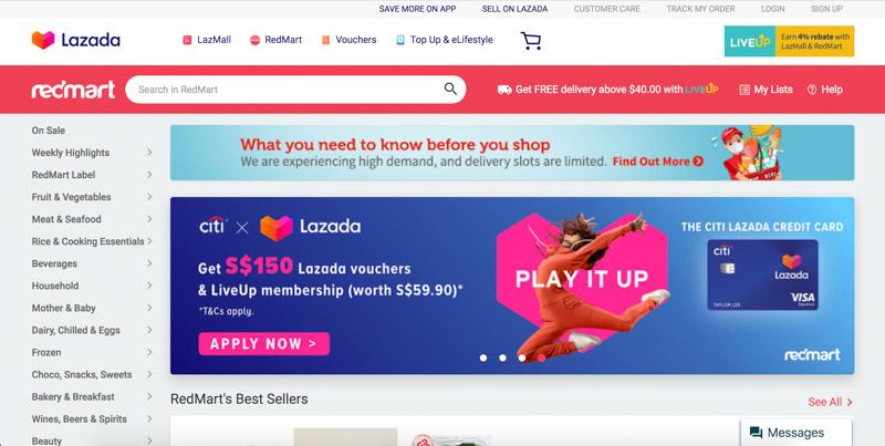 Redmart Lazada Singapore Mar 2020 Online
