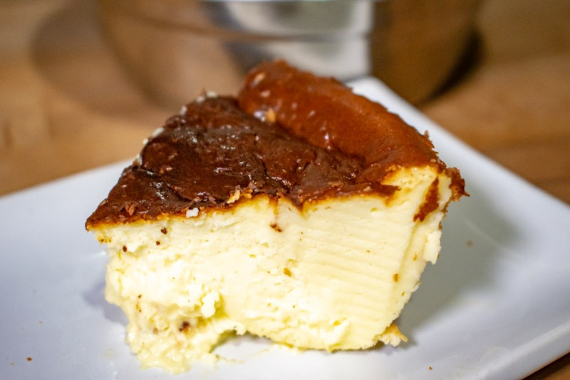 Stay Home Recipe Air Fryer Basque Burnt Cheesecake 10