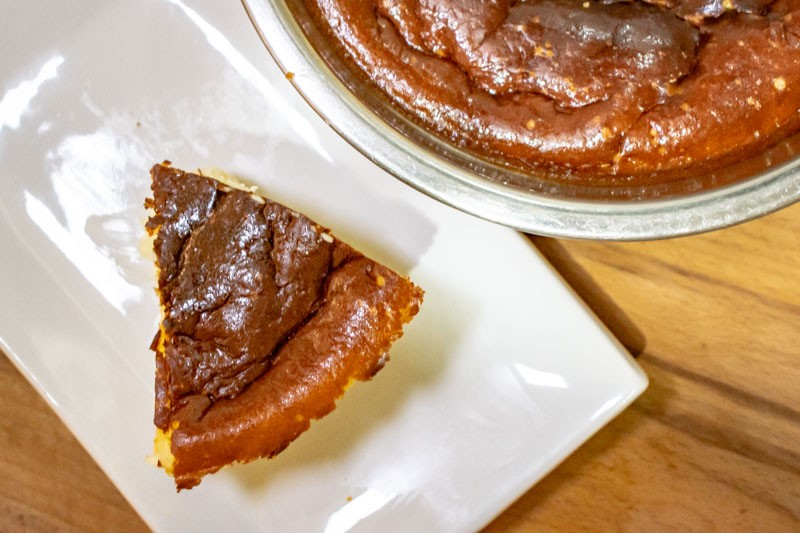 Stay Home Recipe Air Fryer Basque Burnt Cheesecake 9