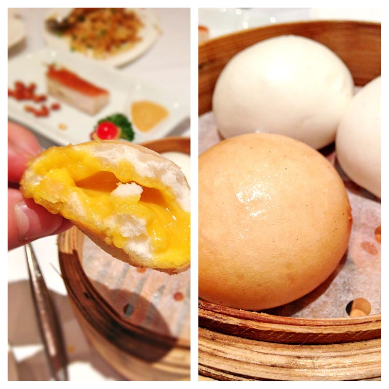 dim sum Peach Garden Fried liu sha bao