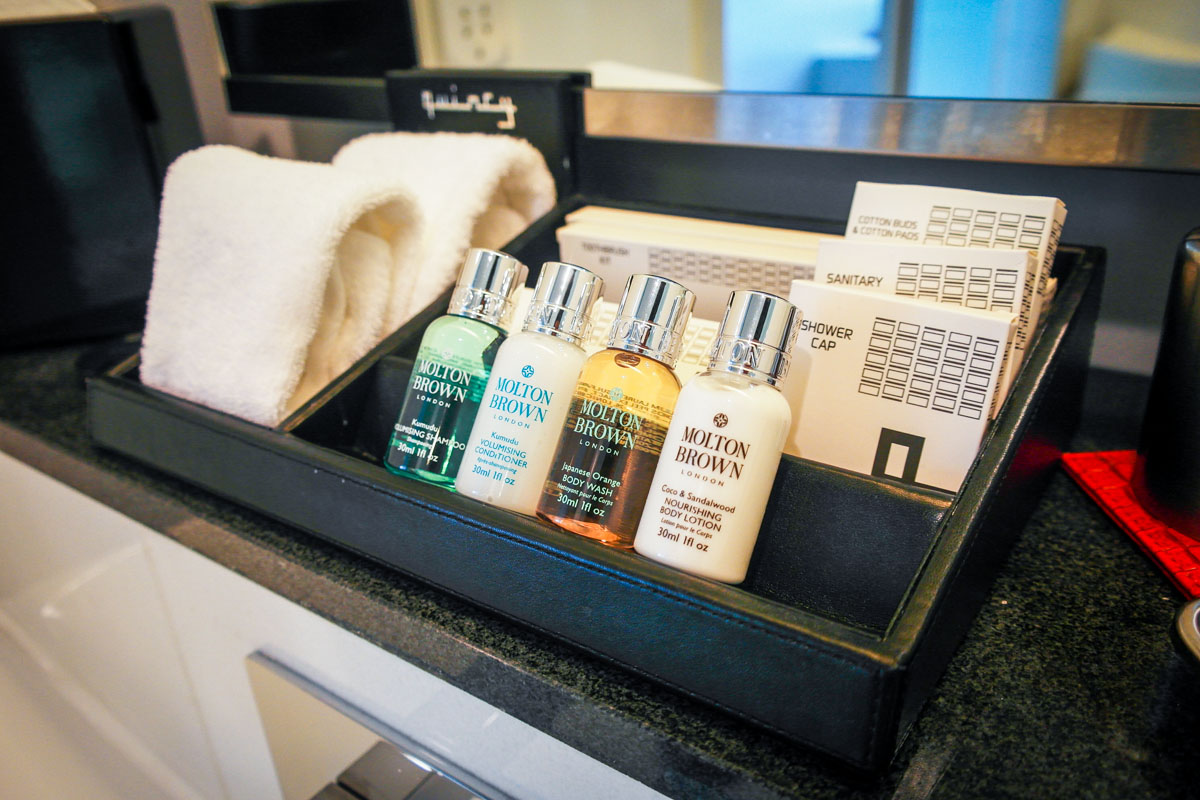 quincy hotel toiletries molton brown
