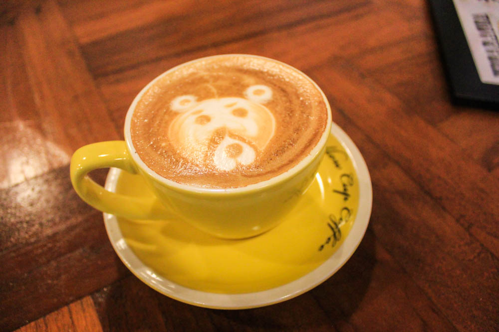 yellow cup -