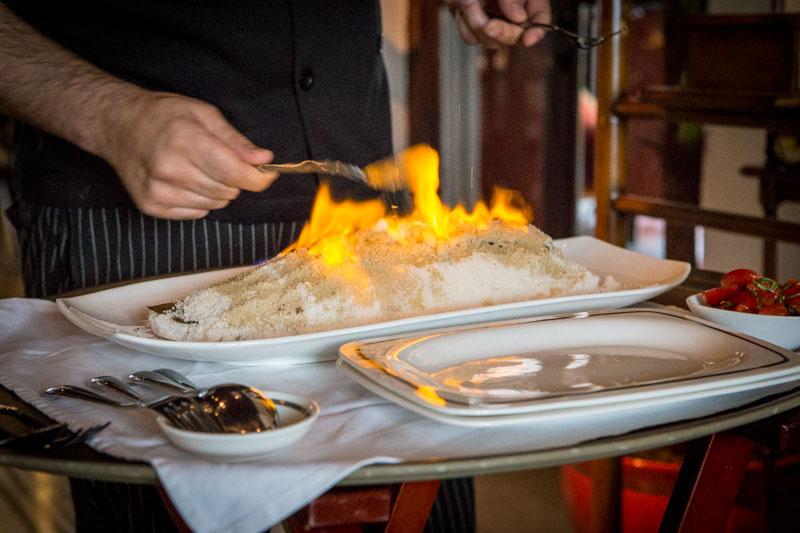 alkaff mansion flambe sea bass