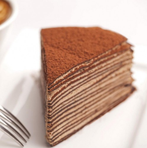 Chocolate Mille Crepe Cake