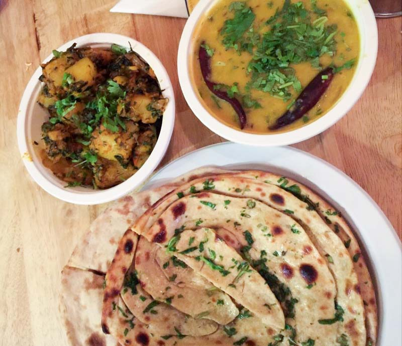 Indline The Indian Cookery - Pudina Lachcha Paratha
