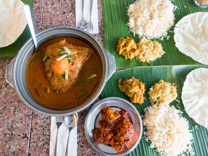 Karu's Indian Banana Leaf Restaurant - Curry Fish Head & Chicken Masala