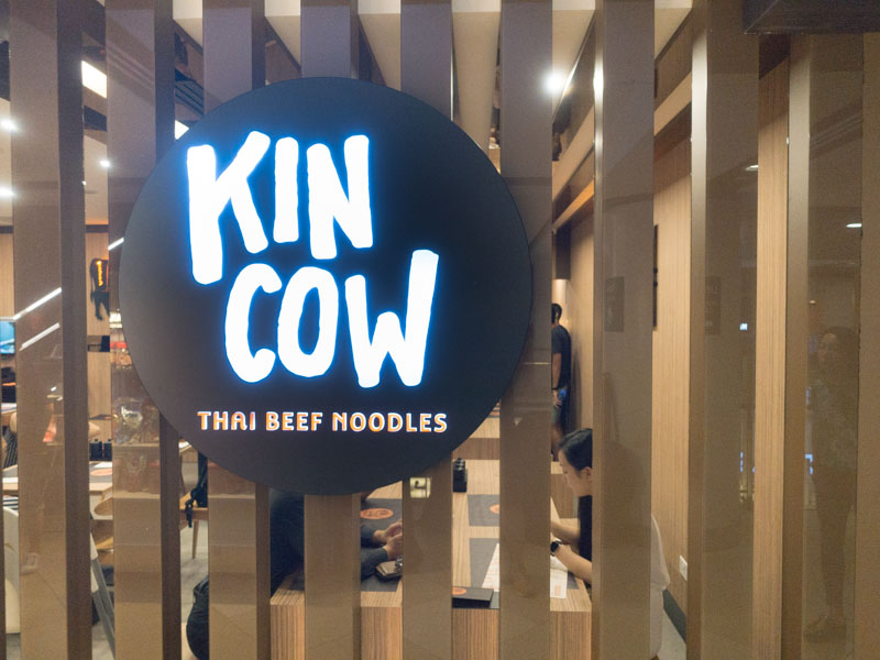 Kin Cow Thai Beef Noodles - Signage