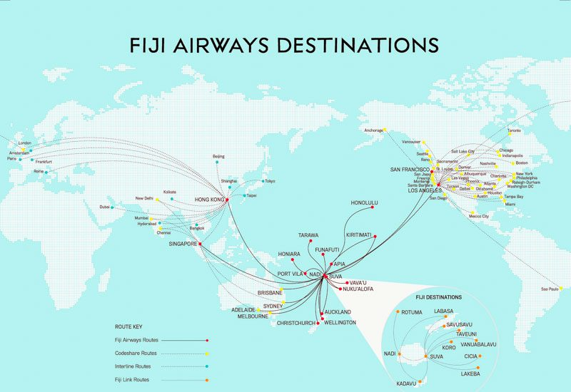 Fiji Airways Offers More Than 400 Flights Per Week To 21 Destinations In 13 Countries Including Singapore Australia New Zealand Hong Kong Usa