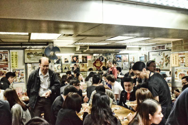 hong kong street food - Lan Fong Yuen Inside