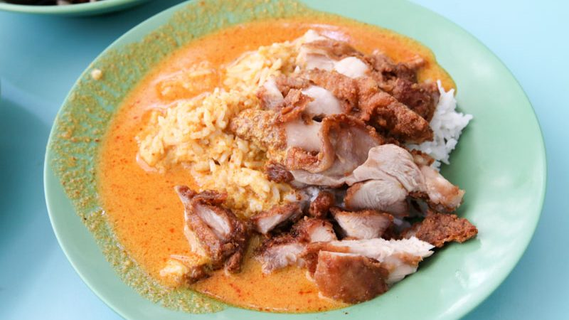A plate of Curry Fried Chicken Cutlet Rice
