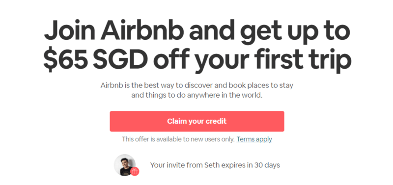 Airbnb Promo Code Singapore Up To S 65 Free Credits For Your First Booking
