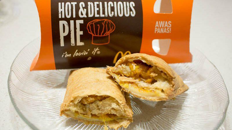 McDonald's Malaysia Chicken Rendang Pie Salted Caramel & Chocolate Pie 3