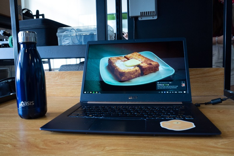 Image of laptop in office