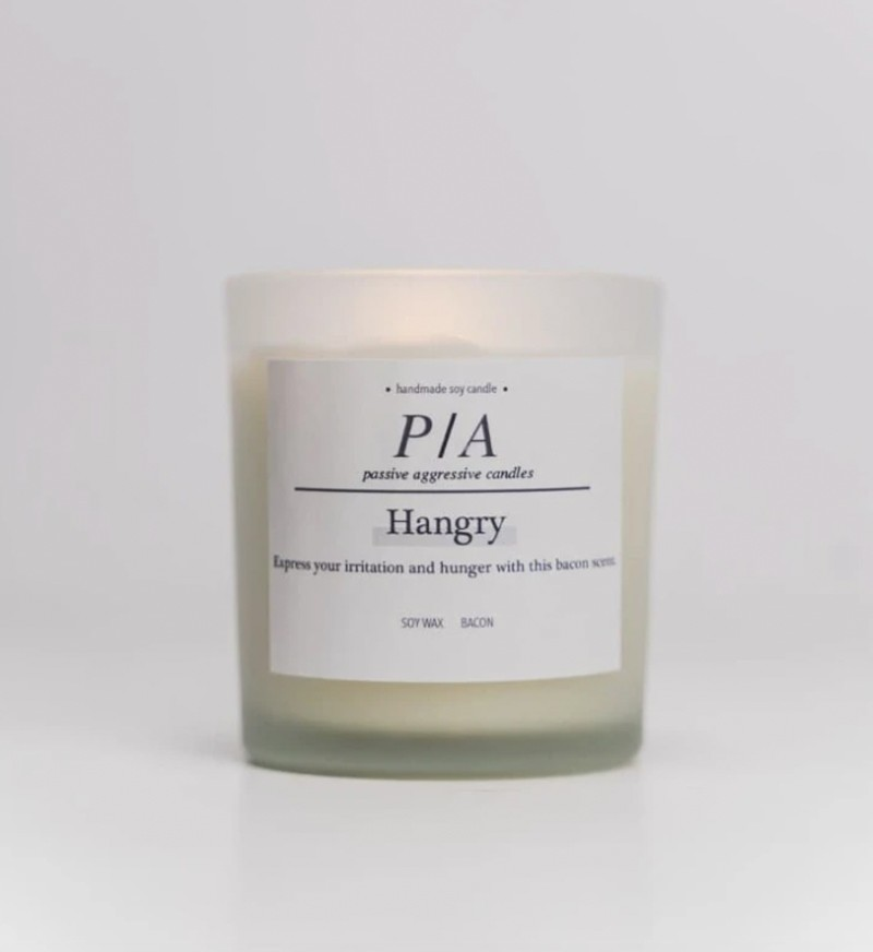 picture of hangry candle Passive Aggressive Candles