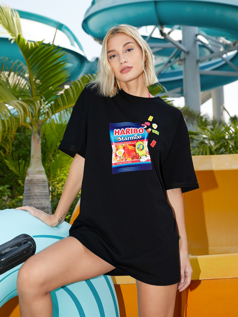 Oversized Graphic print tee Pomelo X Haribo Collection 6