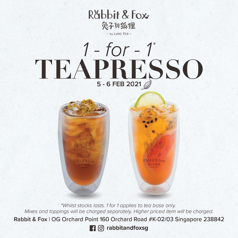 Poster for teapresson Rabbit And Fox Sg 3