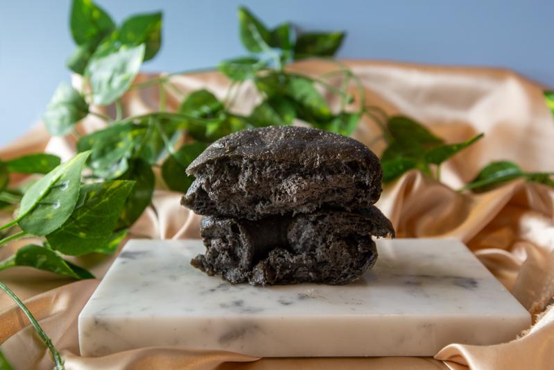 Cross section of Black Sesame doughnut