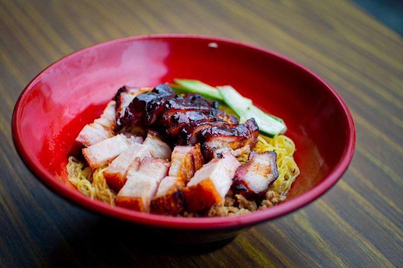 A bowl of Char Siew Roast Pork Noodle