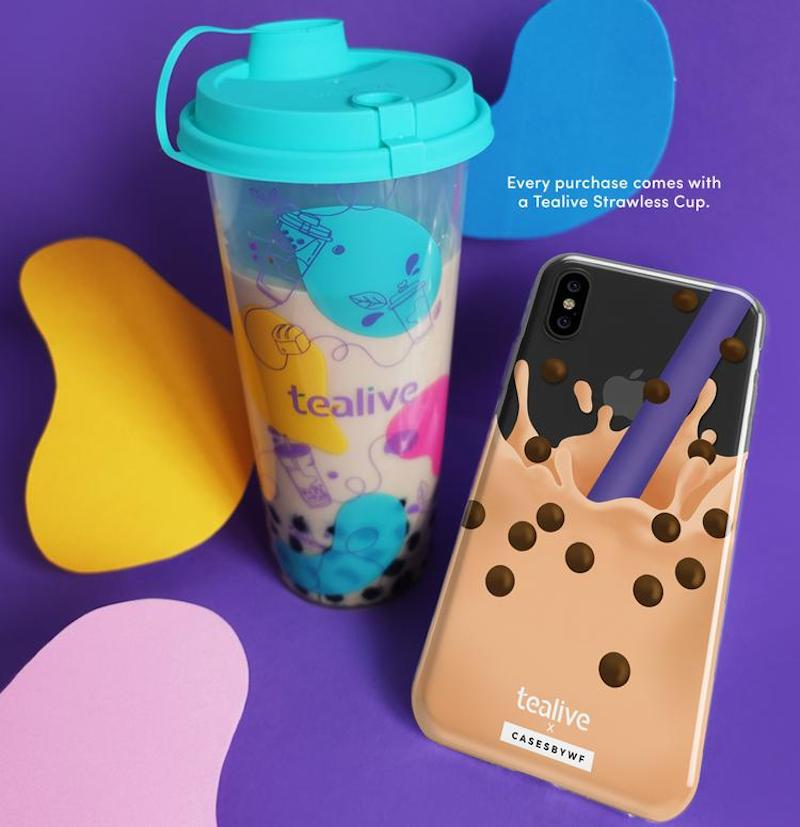 A picture of Boba Splash & Tealive Strawless Cup design