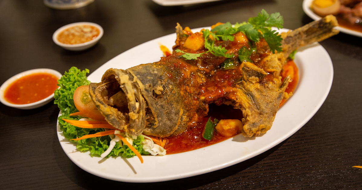 Crispy Grouper With Signature Thai Sweet Chilli