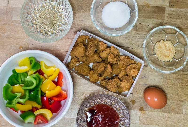 Ingredients required for KFC Kolo Yok recipe
