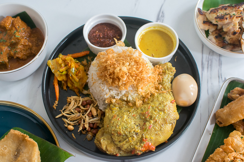 A plate of nasi lemak from Husk