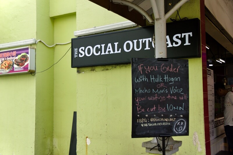 Storefront of The Social Outcast