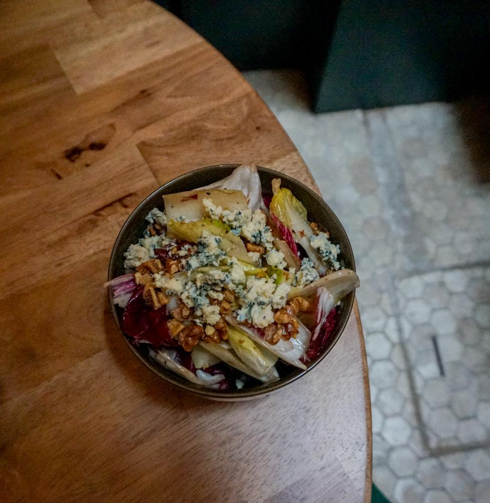 Top-down shot of Bitter Leaf Salad